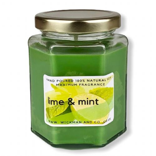 Lime & Mint Soy Wax Candle
